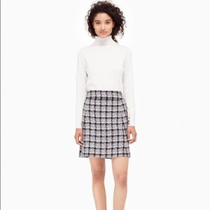 Authentic Kate Spade Textured Tweed A-line Skirt 0